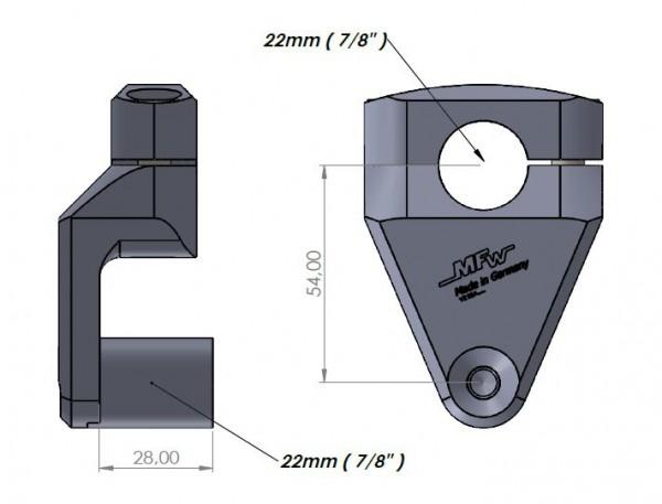 """Vario-Riser 2 Lenker Ø 7/8"""" (22mm) sand schwarz"""