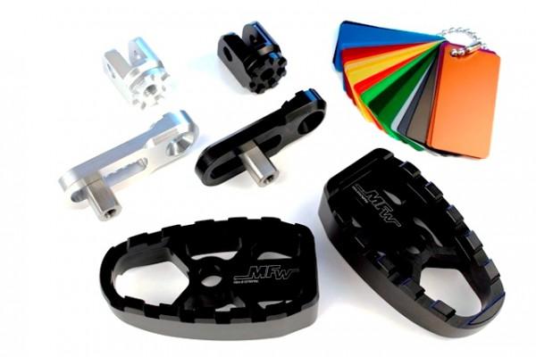Fußrastensatz Komfort 1-teilig ohne Gummiauflage,Variogelenk und Multi-Varioplatte 20-35mm #varinfo