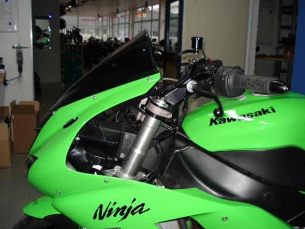 Superbike Umbau komplett (Klemm) ZX-6R 07-08 (GK22) silber, Lenker silber, Anschluss silber, Leitung
