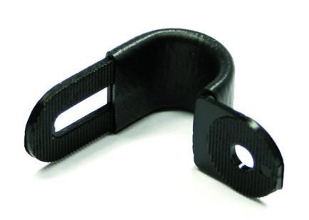 Kunststoffhalter CX-09 schwarz gummiert
