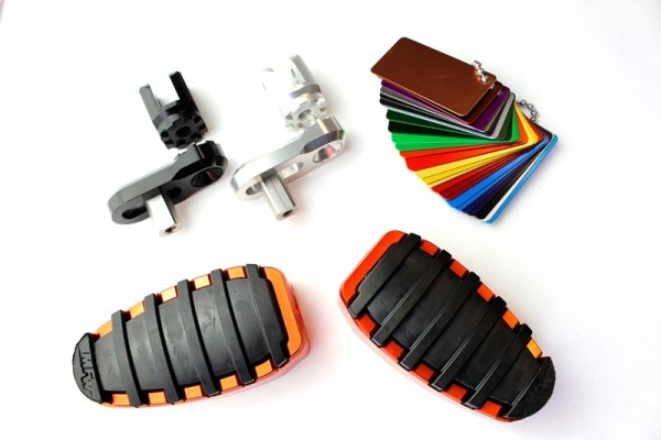 Fußrastensatz Komfort 1-teilig mit Gummiauflage, Variogelenk und Multi-Varioplatte 20-35mm #varinfo