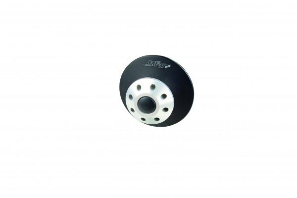 Bobbins 2-teilig Holes M6  (zum Beispiel : Aprilia ; Yamaha R1,R6 ) silber glänzend, schwarz glasper