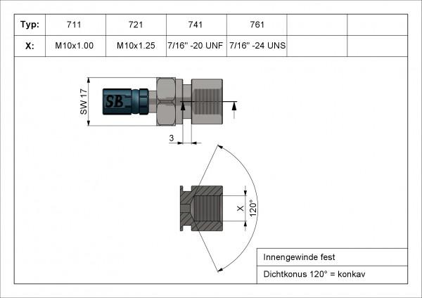 """Innengewinde Vario Typ 761 IGF 7/16"""" -24 UNS #varinfo"""