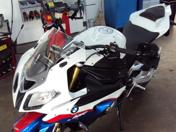 Superbike Umbau komplett S 1000RR 09-11 BigBar silber, Lenker silber, Anschluss silber, Leitung schw