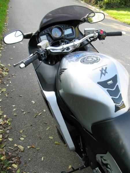 Superbike Umbau komplett silber, Lenker silber, Anschluss silber, Leitung schwarz