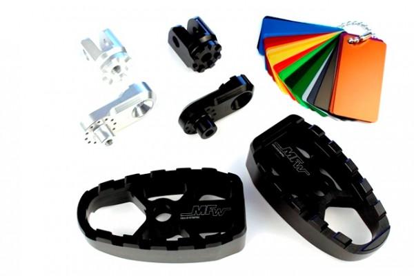 Fußrastensatz Komfort 1-teilig ohne Gummiauflage,Variogelenk und 30mmVarioplatte  #varinfo