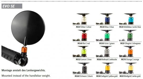 Evo-Superbike Spiegel 69cm² inkl. Lenkergewicht #varinfo