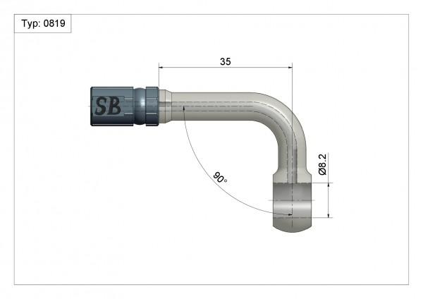 Ringfitting K-Ø14 Vario Typ 0819 Ø08mm 90°#varinfo