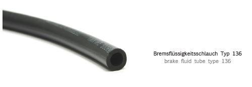 Bremsflüssigkeitsschlauch iø7 aø12 - schwarz