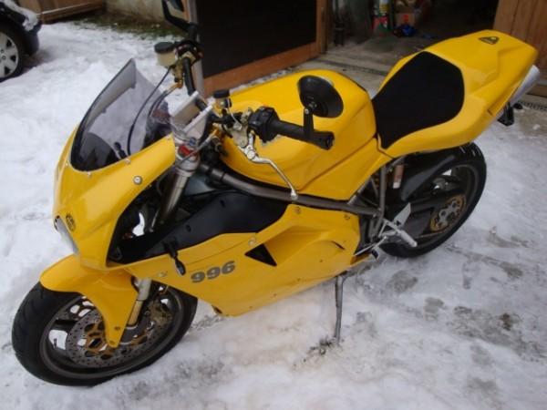 Superbike Umbau komplett Ducati 748 - 998 (GD40) silber, Lenker silber, Anschluss silber, Leitung sc