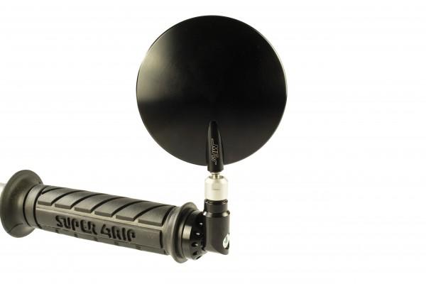 Evo-Superbike Spiegel 69cm² für M10 Lenkergewicht schwarz glänzend, silber glänzend