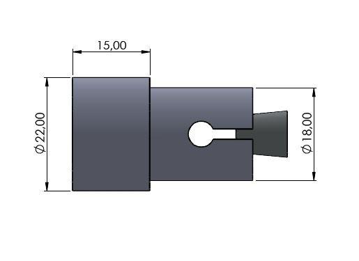 Lenkerverbreiterung Ø18mm silber glänzend