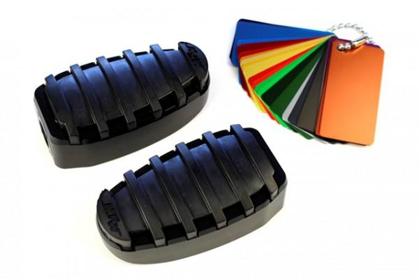 Komfort 1-teilig Fußrasten Set mit Gummi mit Austauschgelenk #varinfo