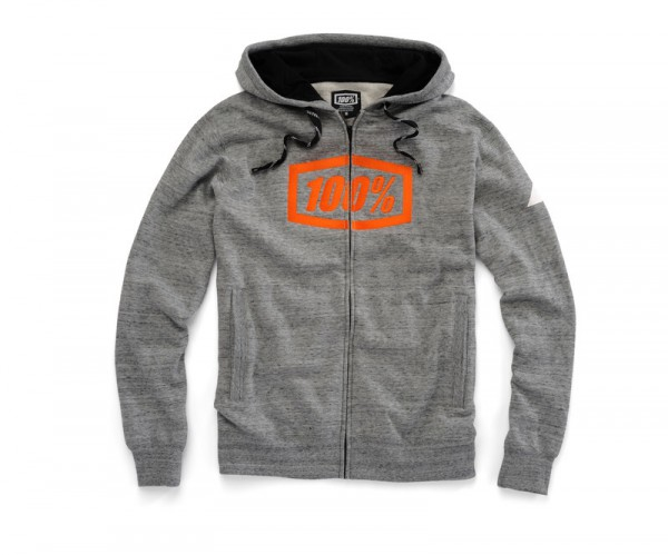 100 percent Zip-Hoody Syndicate gunmetal
