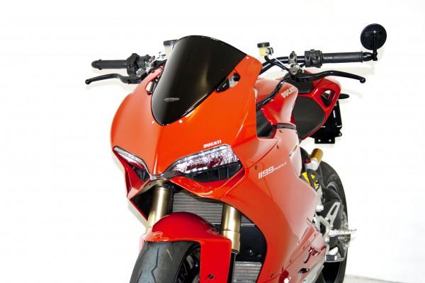 Superbike Umbau komplett Panigale  Ø 57mm Standrohr silber, Lenker silber, Anschluss rot, Leitung tr