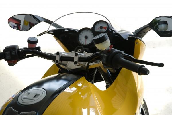 Superbike Umbau R 1200S 06- mit ABS silber, Lenker silber, Anschluss silber, Leitung schwarz