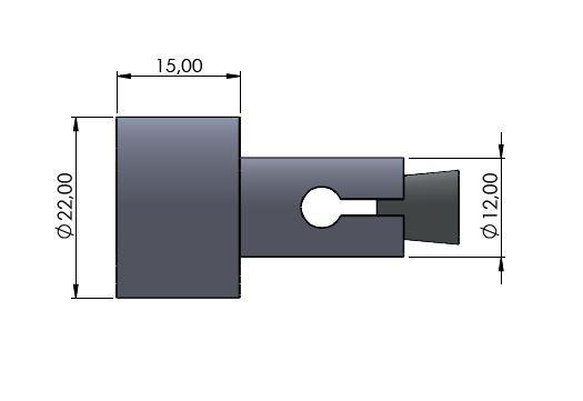 Lenkerverbreiterung Ø12mm schwarz glänzend
