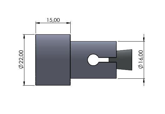 Lenkerverbreiterung Ø16mm silber glänzend