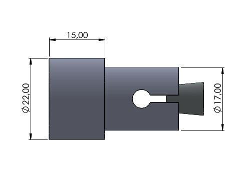Lenkerverbreiterung Ø17mm silber glänzend