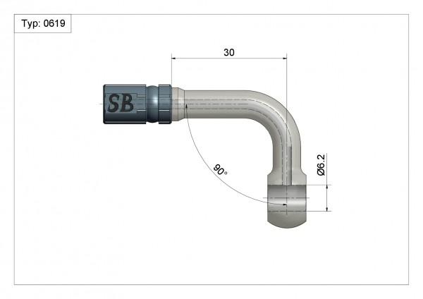 Ringfitting K-Ø14 Vario Typ 0619 Ø06mm 90°#varinfo