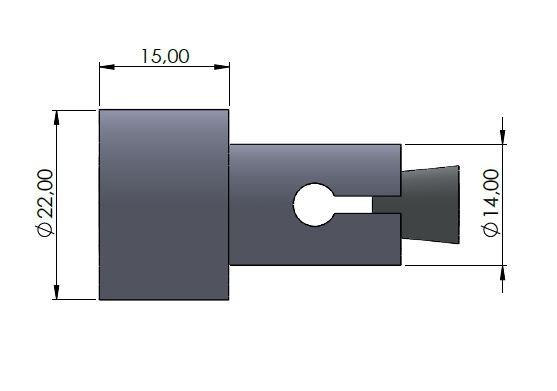 Lenkerverbreiterung Ø14mm schwarz glänzend