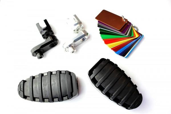 Fußrastensatz Komfort 1-teilig mit Gummiauflage, Variogelenk und 23mmVarioplatte  #varinfo
