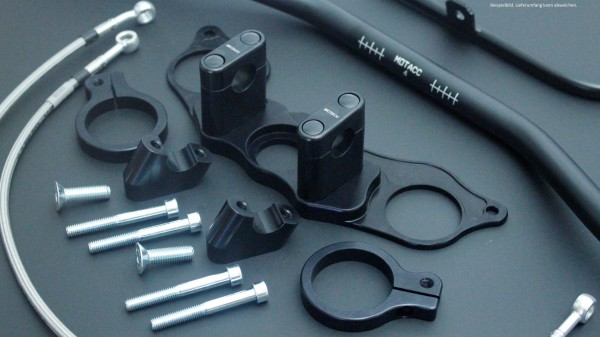 Superbike Umbau komplett CBR 1000F 87- (GH1) silber, Lenker silber, Anschluss silber, Leitung transp