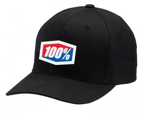 100 percent Cap Flexfit Classic schwarz